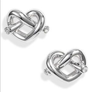 Kate Spade ♠️ NWT Silver Loves Me Knot Earrings